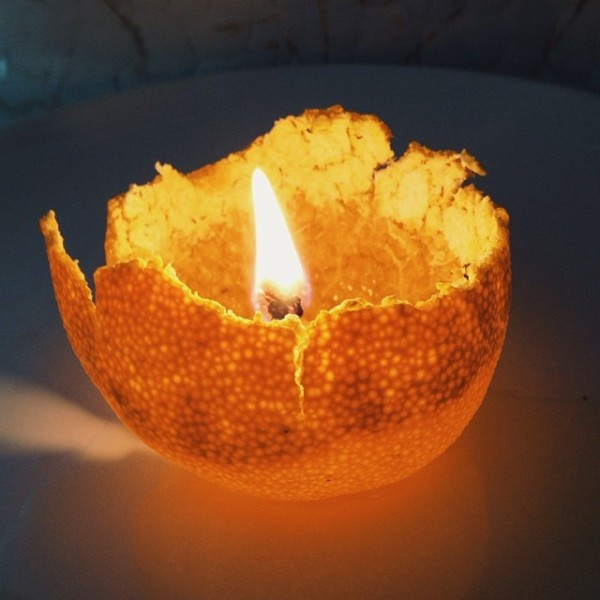 satsuma orange votive candle